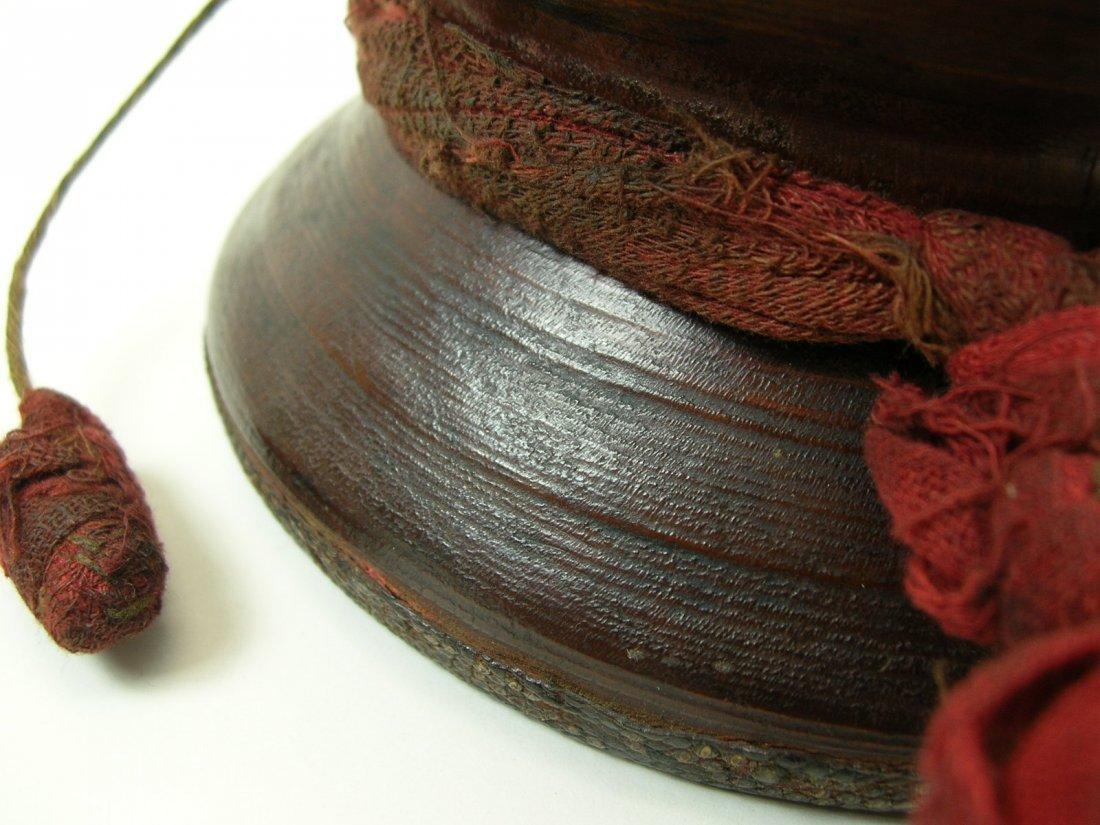 Antique Tibetan Hand Drum - 4