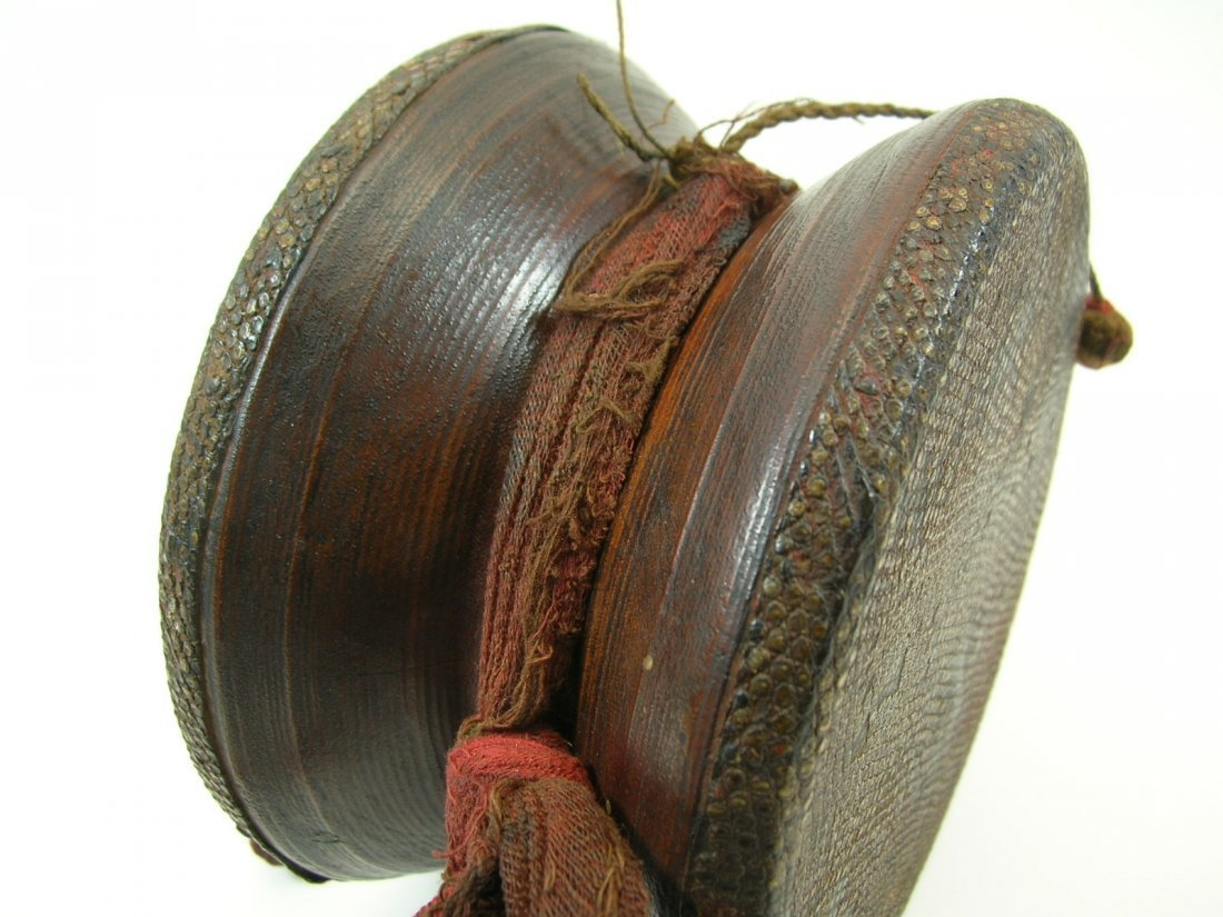 Antique Tibetan Hand Drum - 5