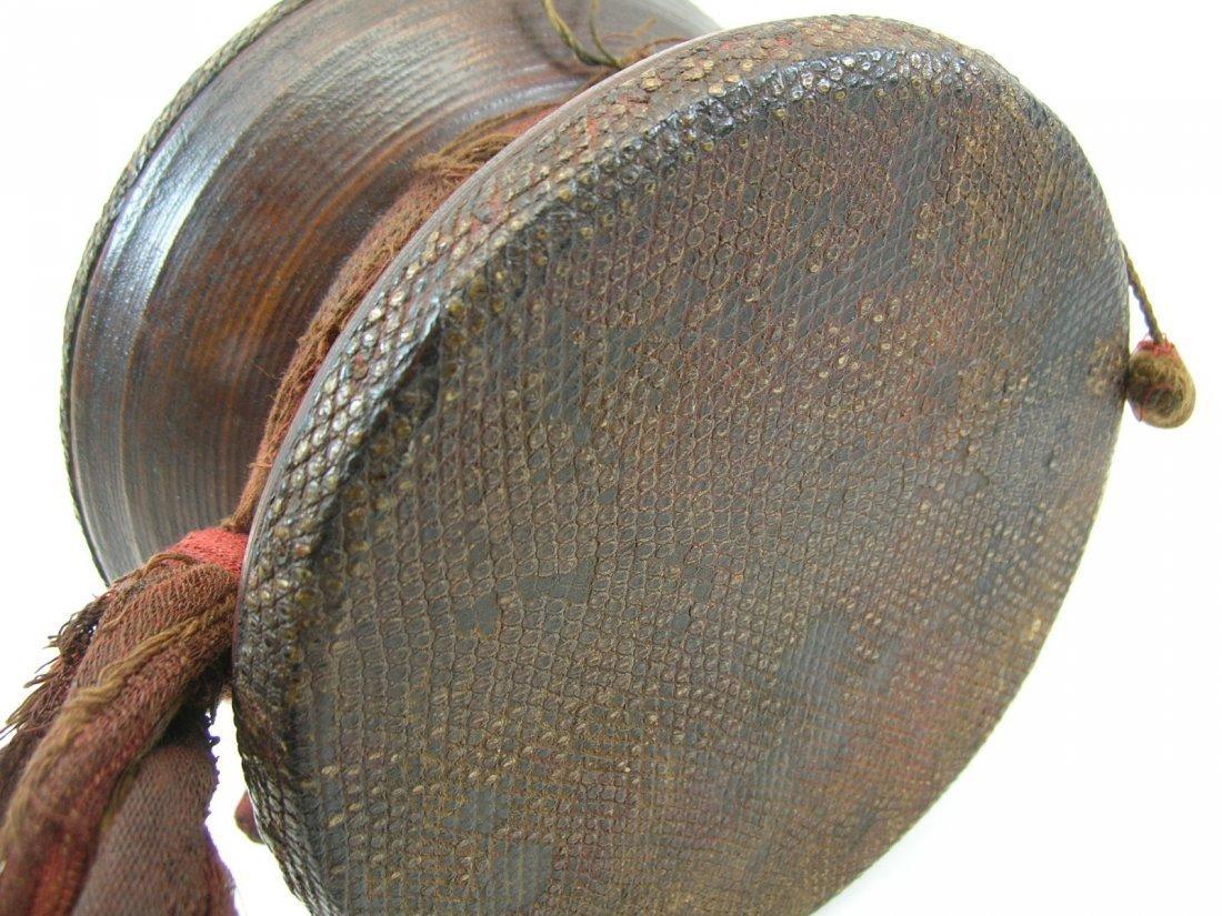 Antique Tibetan Hand Drum - 6