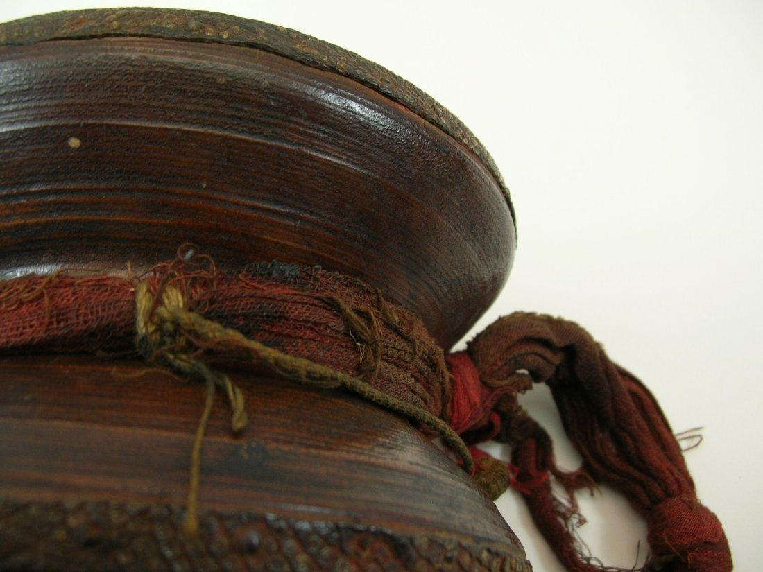Antique Tibetan Hand Drum - 8