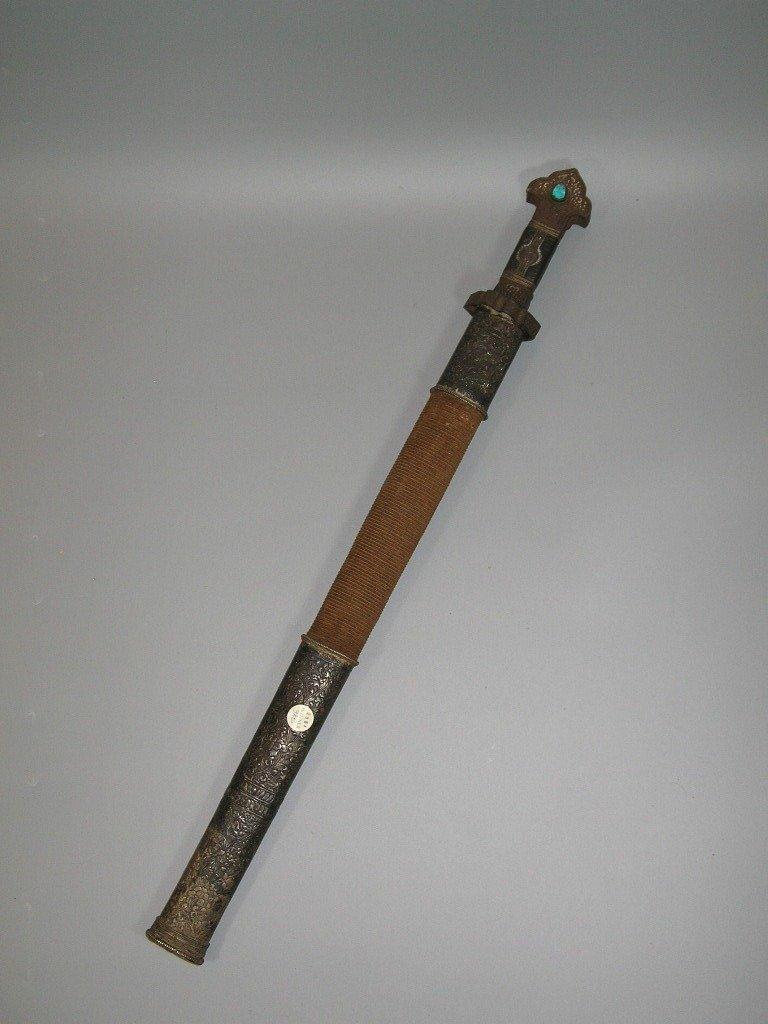Important antique Sino-Tibetan Sword 19th Century