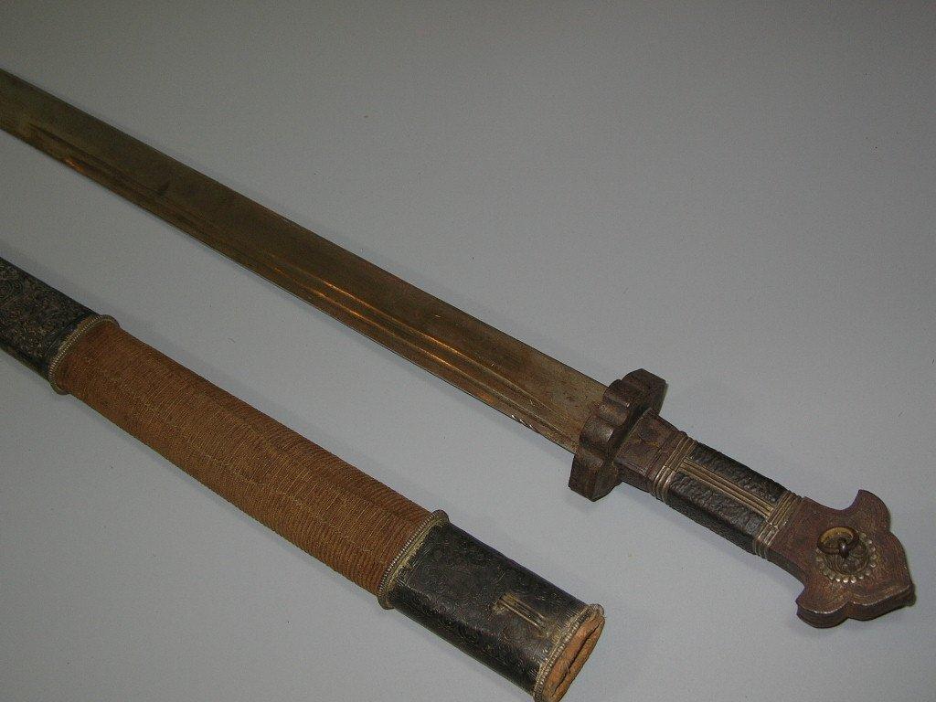 Important antique Sino-Tibetan Sword 19th Century - 8