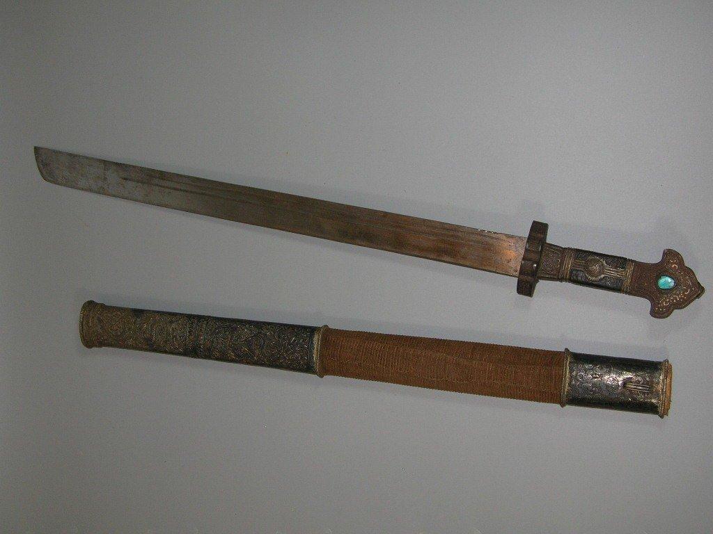 Important antique Sino-Tibetan Sword 19th Century - 9