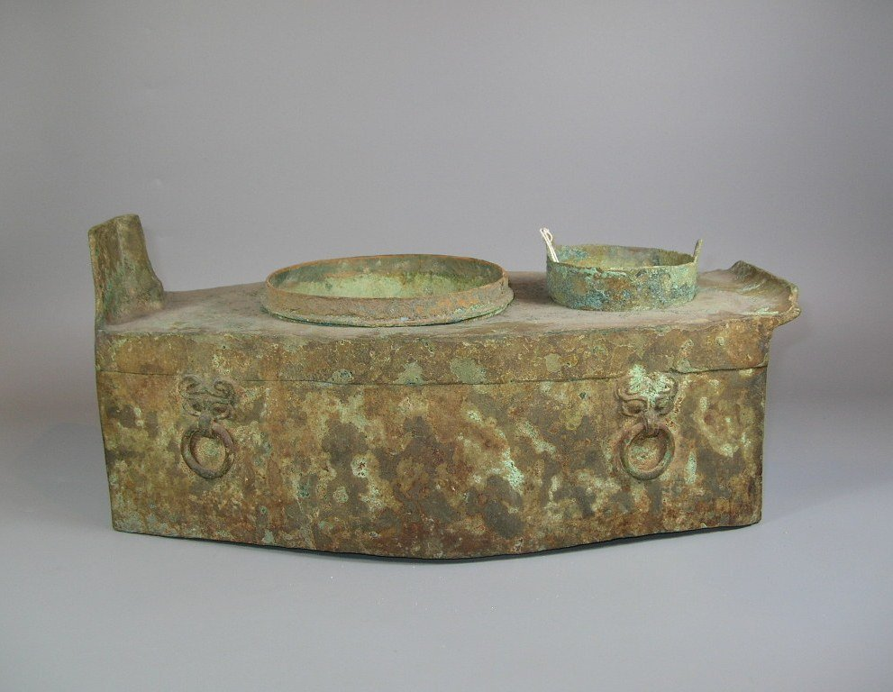 Unusual Han Dynasty Portable Bronze Oven
