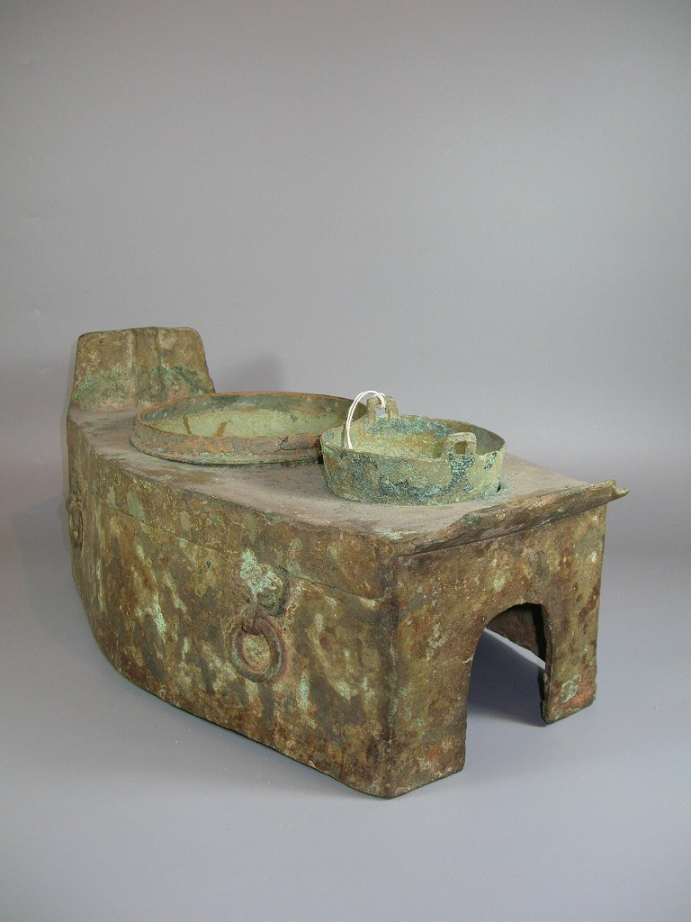 Unusual Han Dynasty Portable Bronze Oven - 2