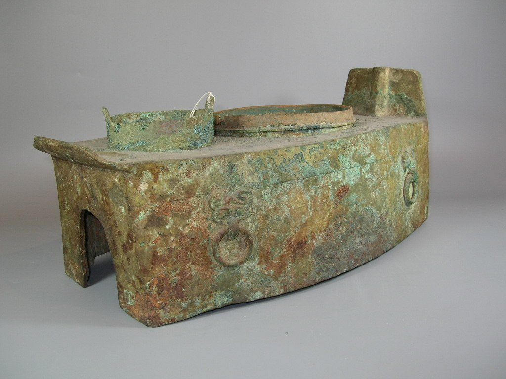 Unusual Han Dynasty Portable Bronze Oven - 3