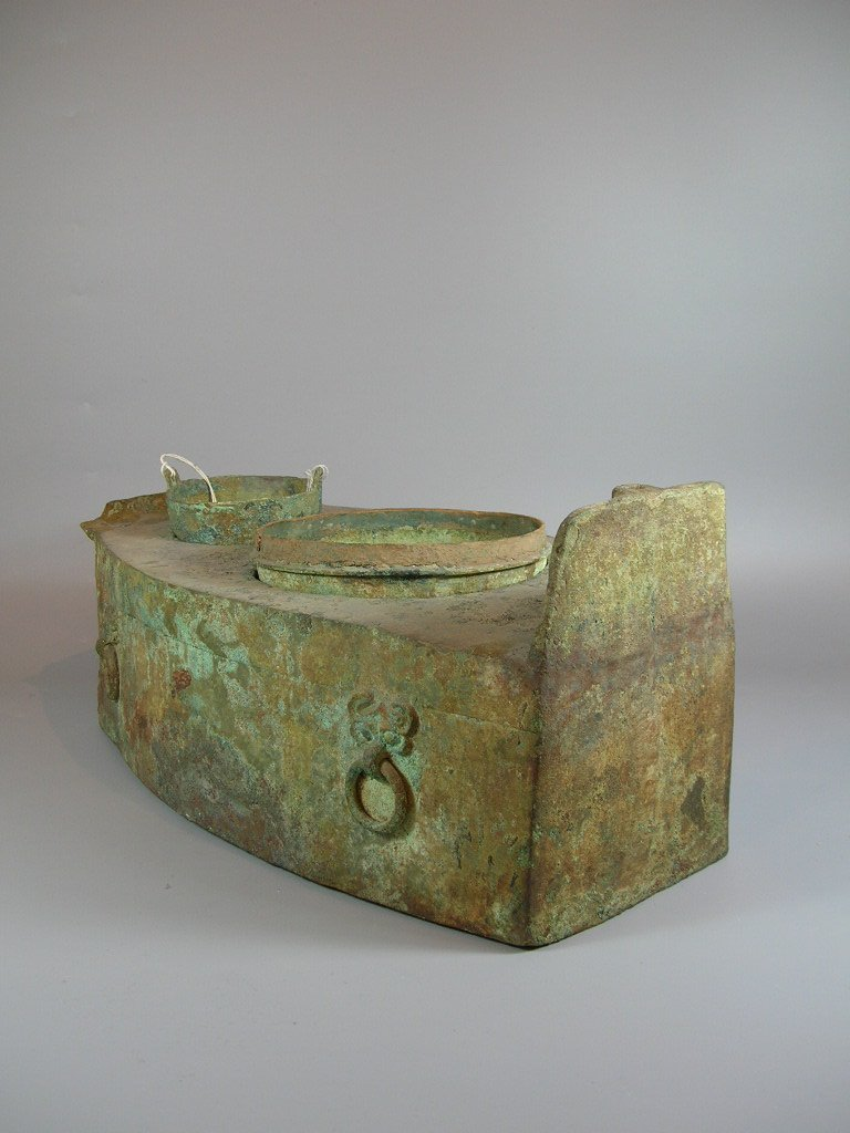 Unusual Han Dynasty Portable Bronze Oven - 4