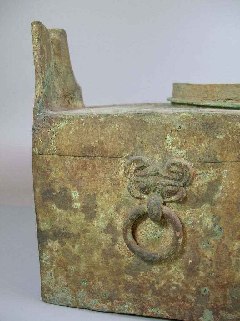 Unusual Han Dynasty Portable Bronze Oven - 5