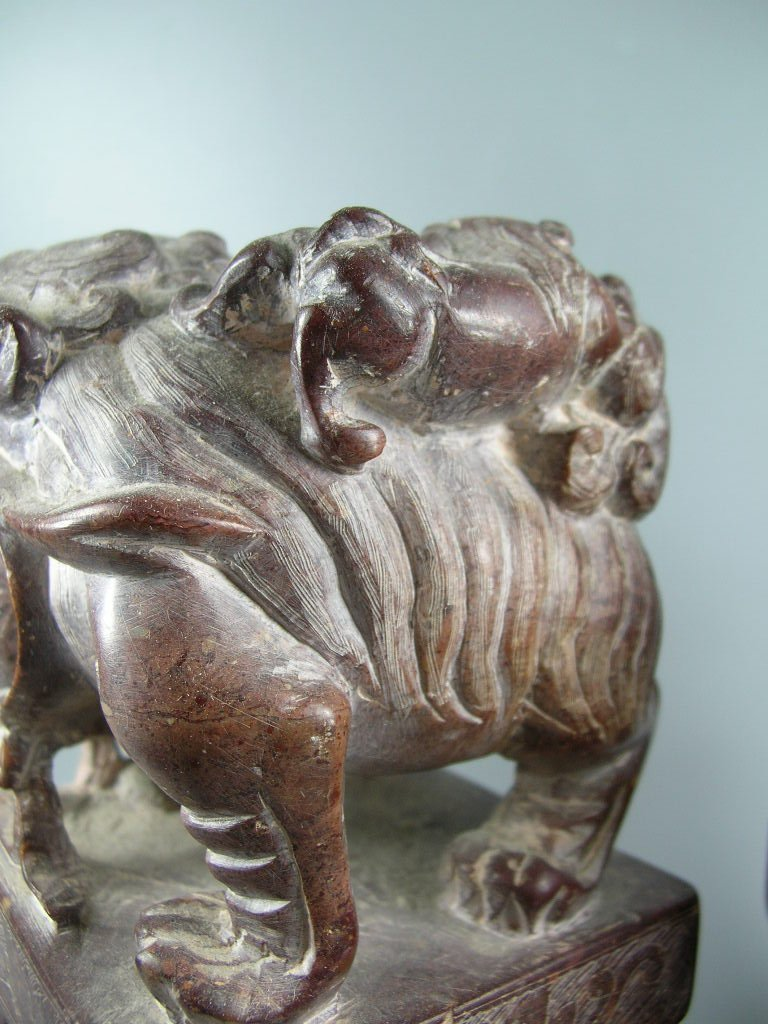 Unusual Pair of Large Soapstone Seals or Bookends - 5