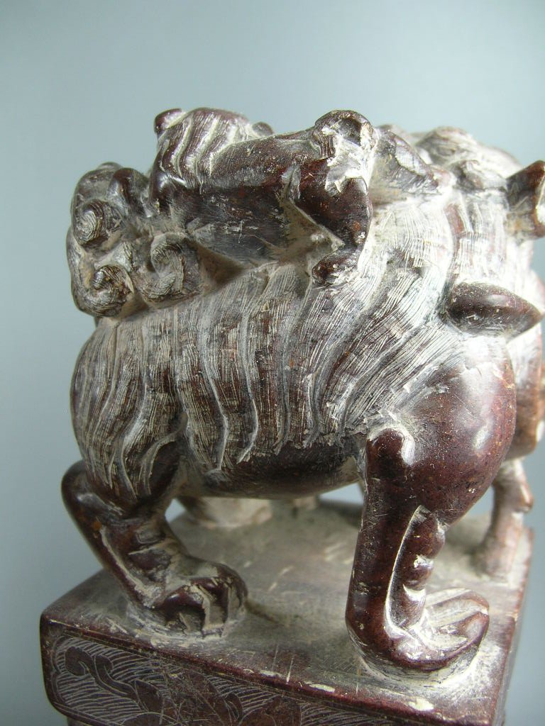 Unusual Pair of Large Soapstone Seals or Bookends - 8