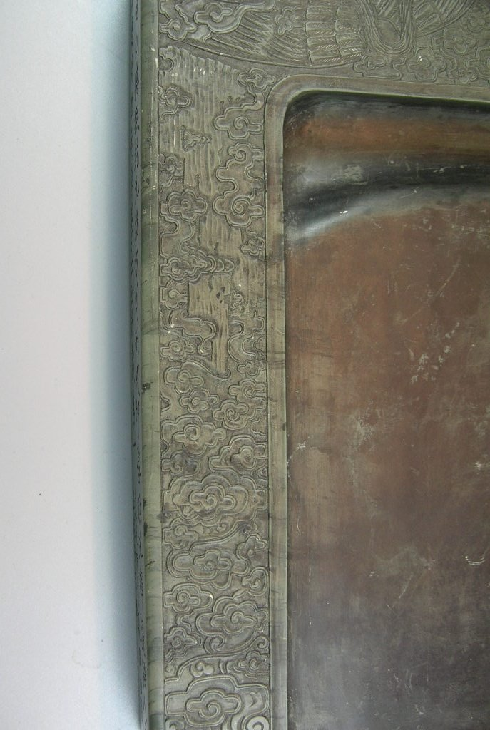 Unusual Large Antique Green-Duan Inkstone with - 5