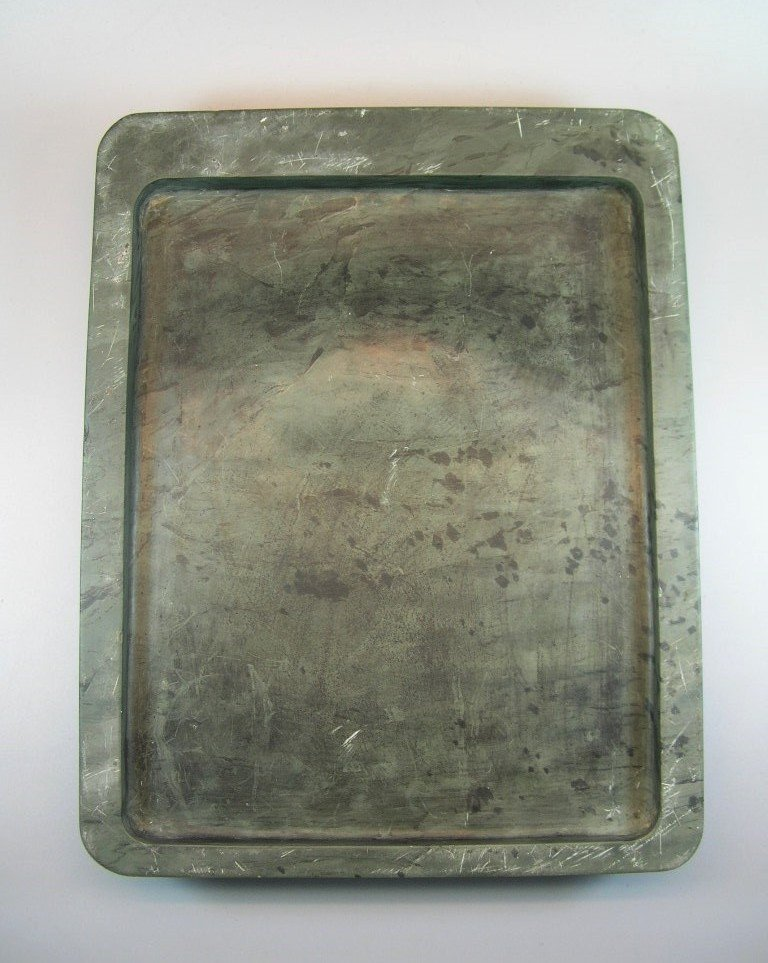 Unusual Large Antique Green-Duan Inkstone with - 7