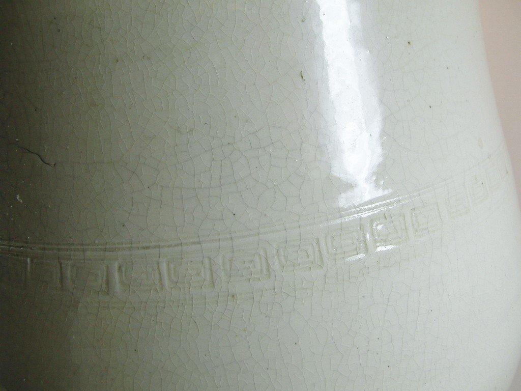 Huge Chinese White Glazed Tripod Censer Marked - 4