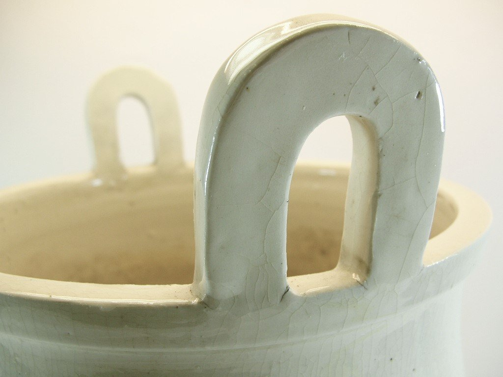Huge Chinese White Glazed Tripod Censer Marked - 6