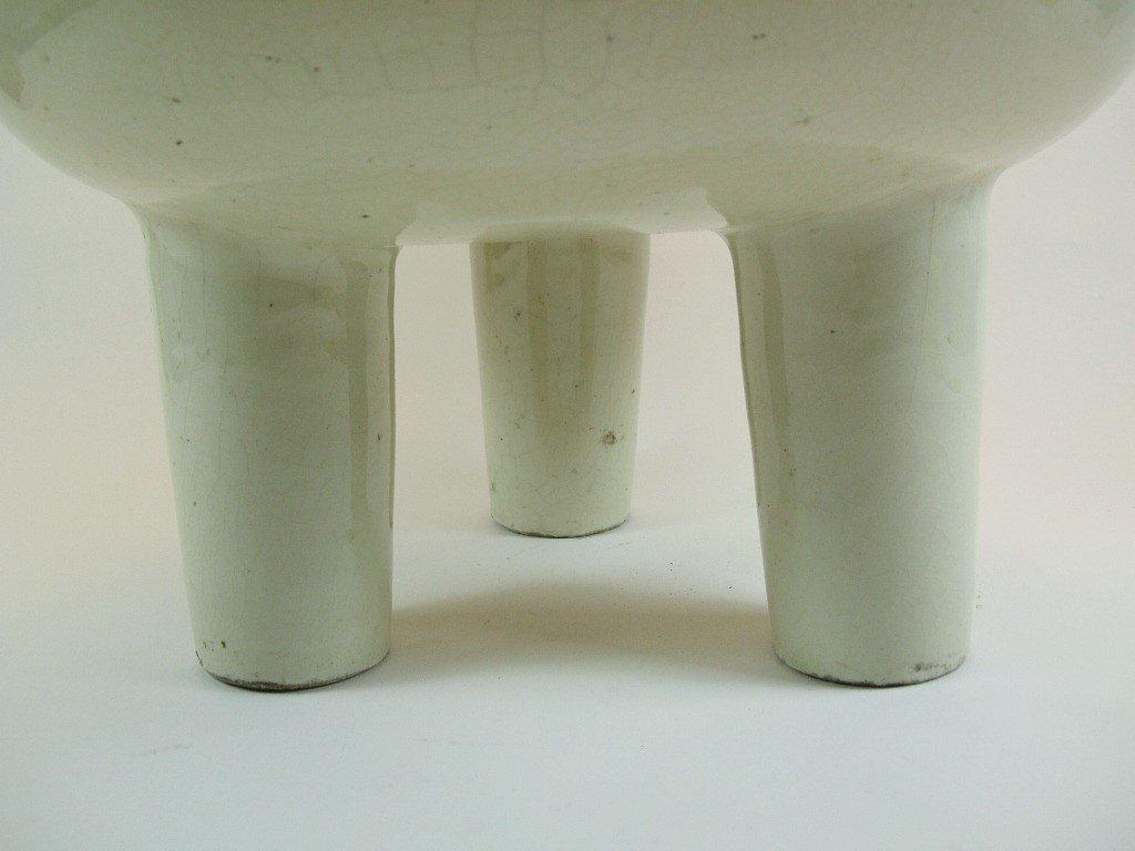 Huge Chinese White Glazed Tripod Censer Marked - 7