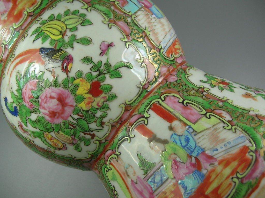 Large Antique Chinese Rose-Medallion Gu-Form Vase - 7