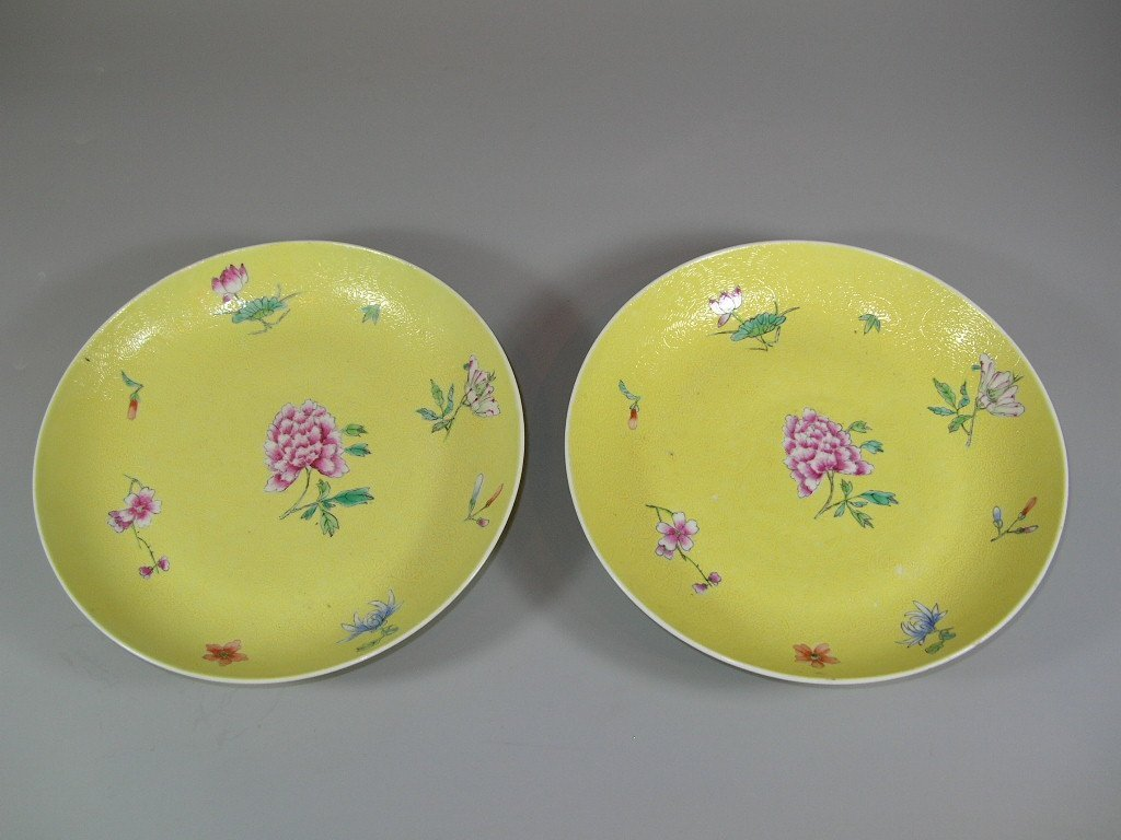 Pair of Antique Chinese Famille-Rose on Sgraffito - 2