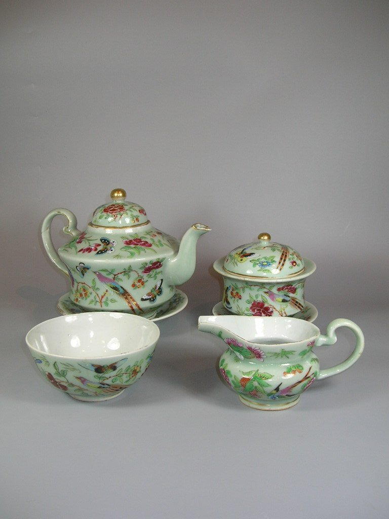 Antique Chinese Famille-Rose Tea Set Qing Dynasty