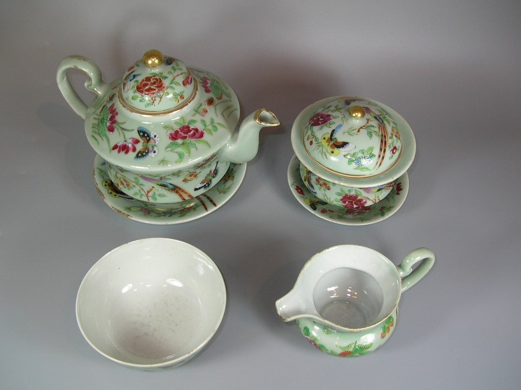 Antique Chinese Famille-Rose Tea Set Qing Dynasty - 2