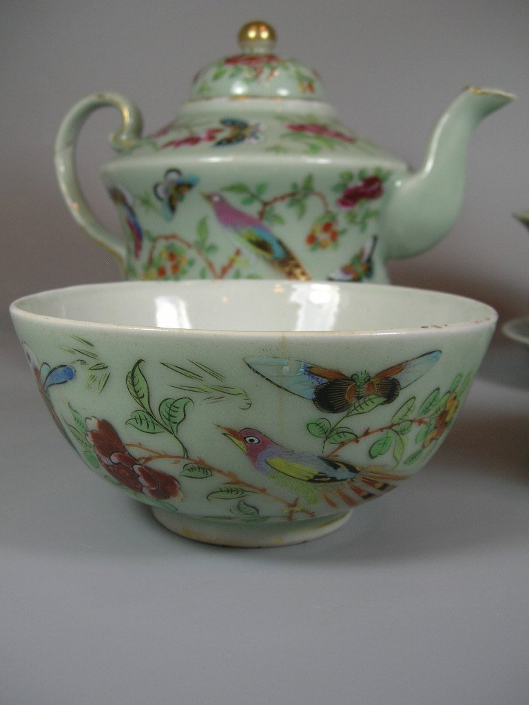 Antique Chinese Famille-Rose Tea Set Qing Dynasty - 3