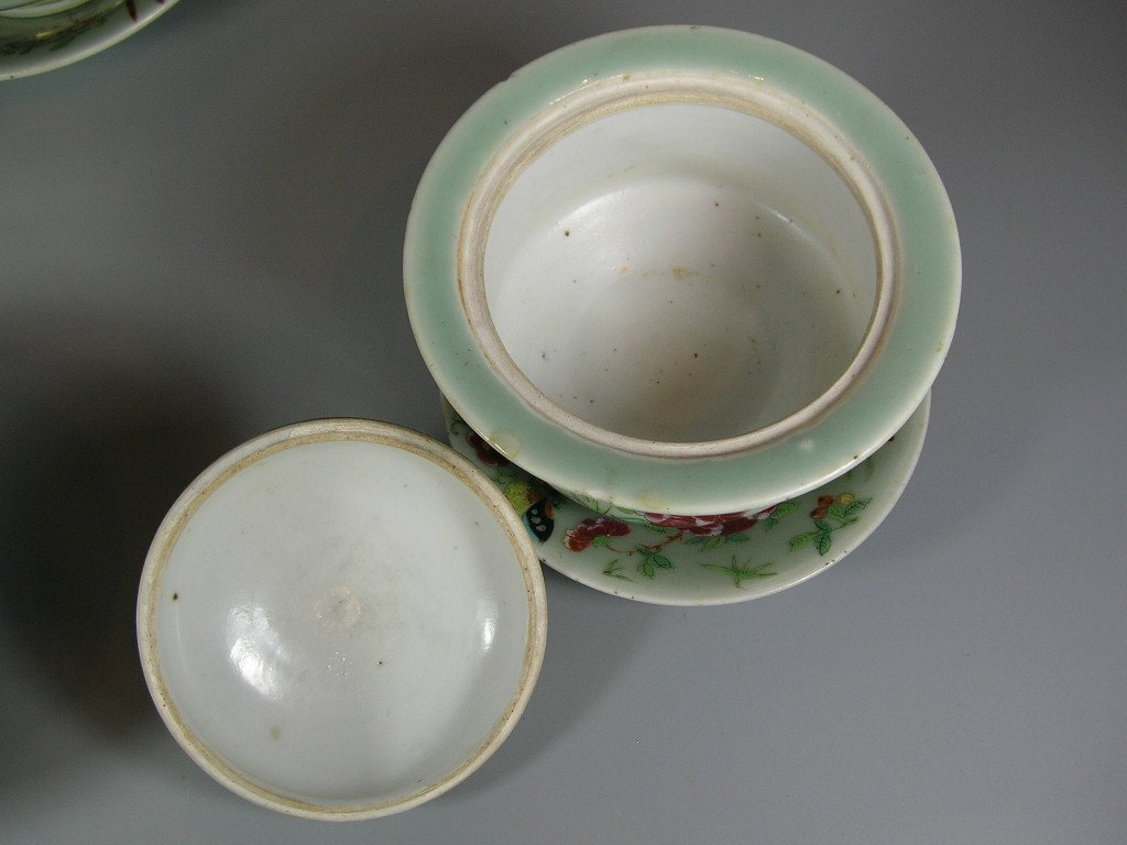 Antique Chinese Famille-Rose Tea Set Qing Dynasty - 6