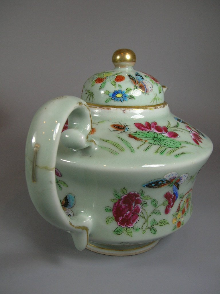 Antique Chinese Famille-Rose Tea Set Qing Dynasty - 8