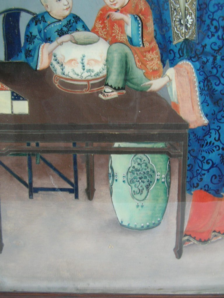 Two Chinese Glass Reverse Paintings Qing Dynasty - 6