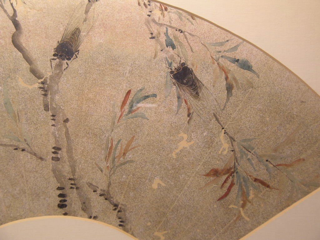 Classical Chinese Fan Painting Cicada Qing Dynasty - 10