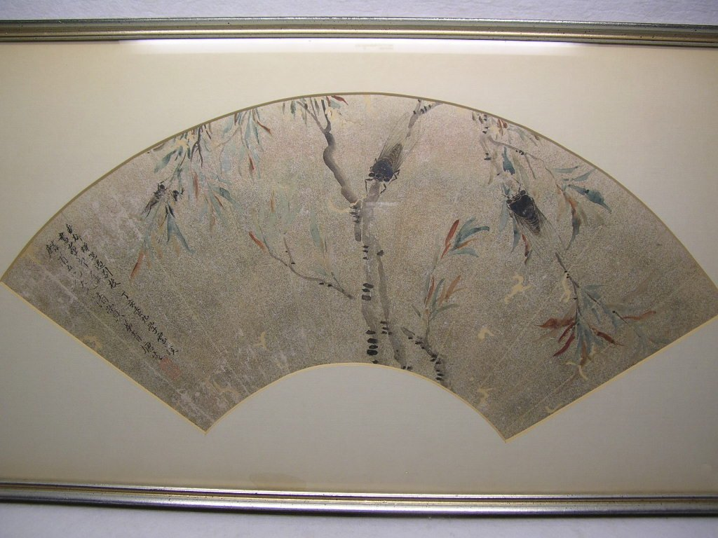 Classical Chinese Fan Painting Cicada Qing Dynasty - 2
