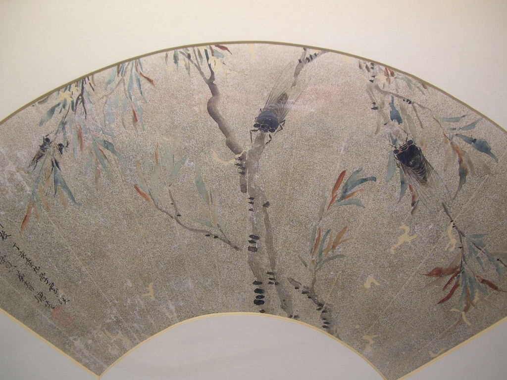 Classical Chinese Fan Painting Cicada Qing Dynasty - 3