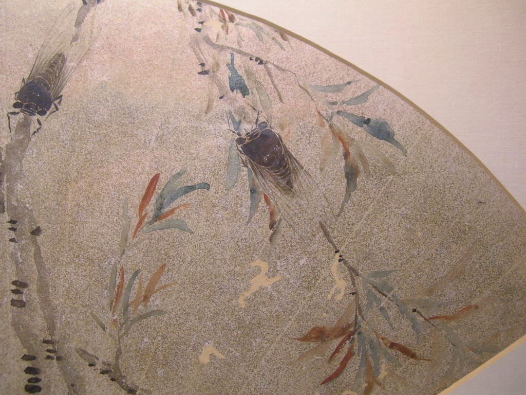 Classical Chinese Fan Painting Cicada Qing Dynasty - 5