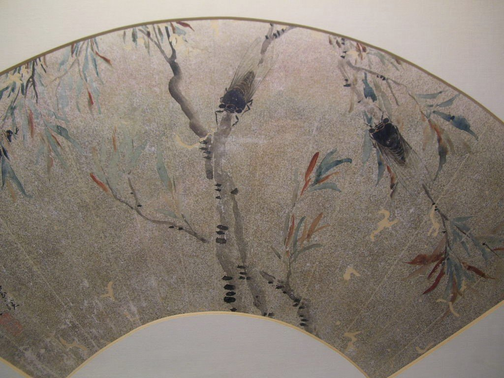 Classical Chinese Fan Painting Cicada Qing Dynasty - 7