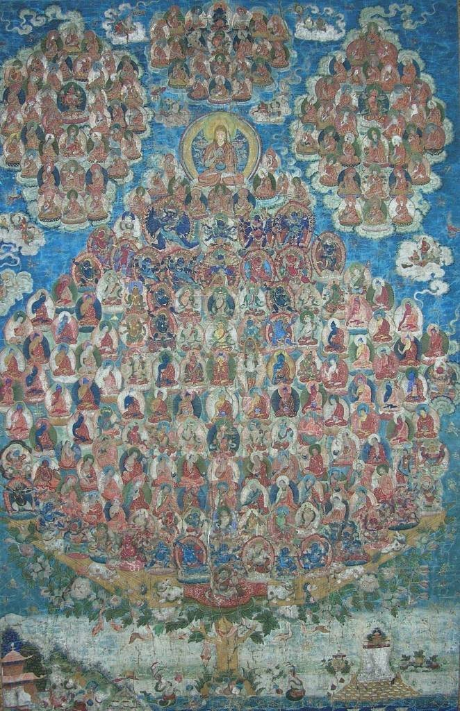 Rare and Unusual Large Sino-Tibetan Thangka