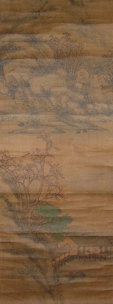 Set of Two Antique Chinese Hanging Scroll Landscape - 2