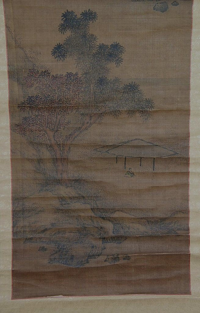 Set of Two Antique Chinese Hanging Scroll Landscape - 8