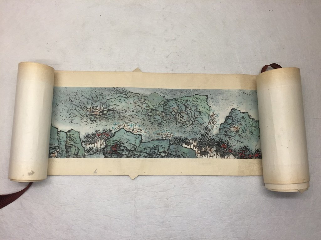 Wu Chengkai Landscape Hand Scroll Watercolor Painting