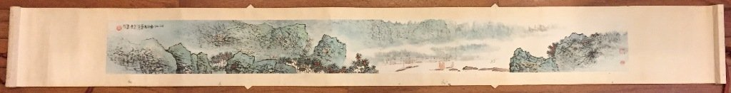 Wu Chengkai Landscape Hand Scroll Watercolor Painting - 2