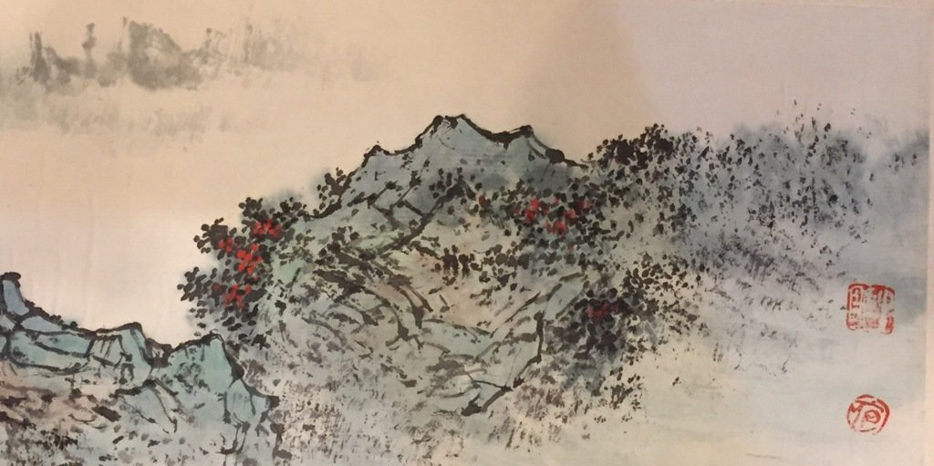 Wu Chengkai Landscape Hand Scroll Watercolor Painting - 7