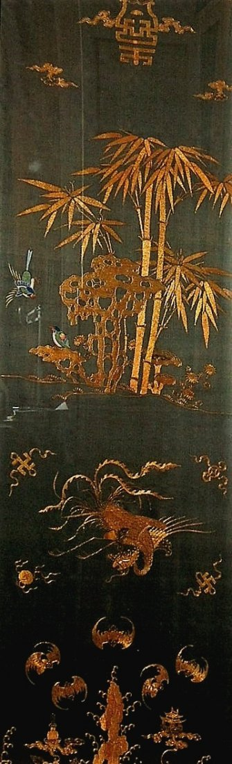 Exquisite Antique Chinese Golden-Thread Embroidery - 2