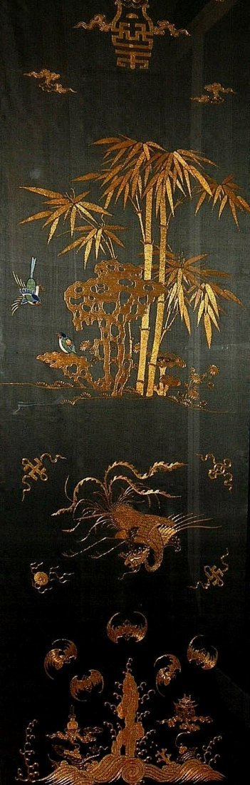 Exquisite Antique Chinese Golden-Thread Embroidery - 3