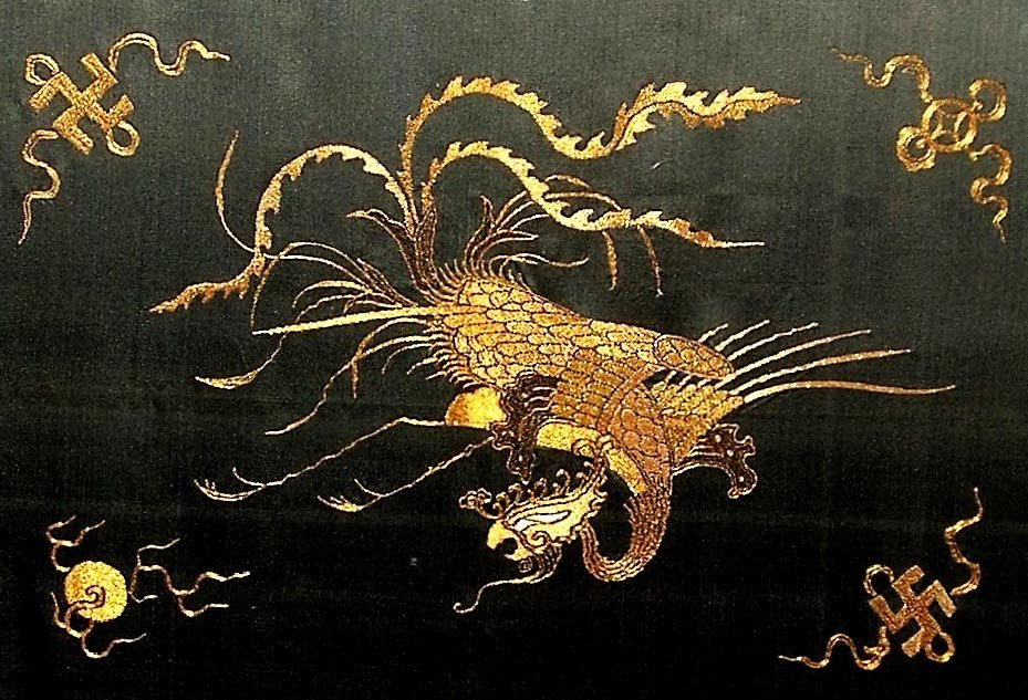 Exquisite Antique Chinese Golden-Thread Embroidery - 9