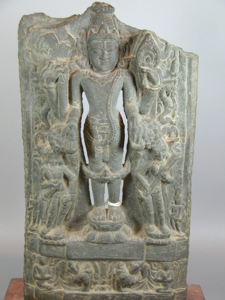 11th Century Indian Grey Limestone Buddhist Stele - 2