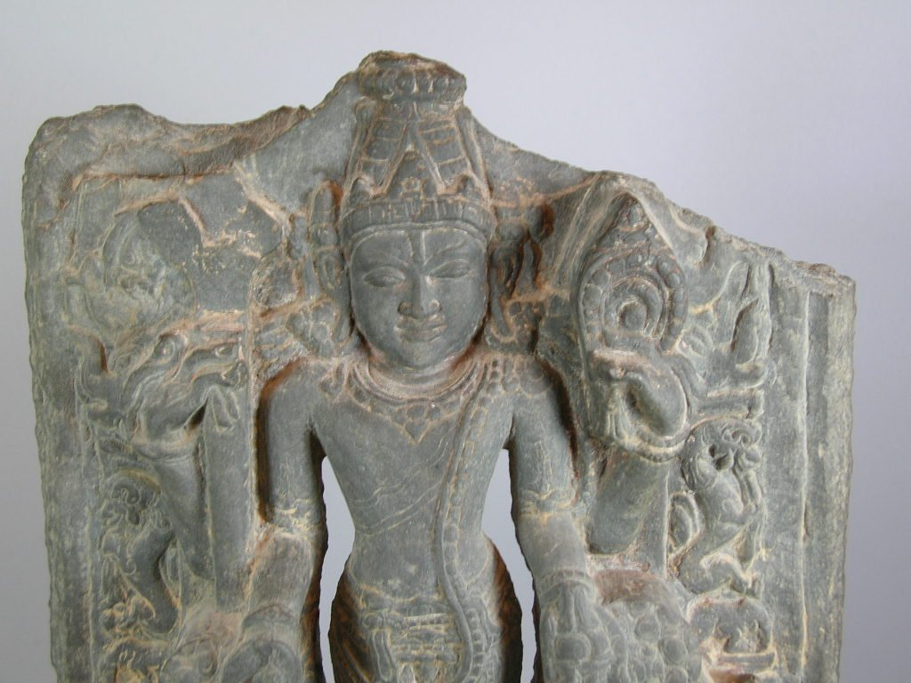 11th Century Indian Grey Limestone Buddhist Stele - 3