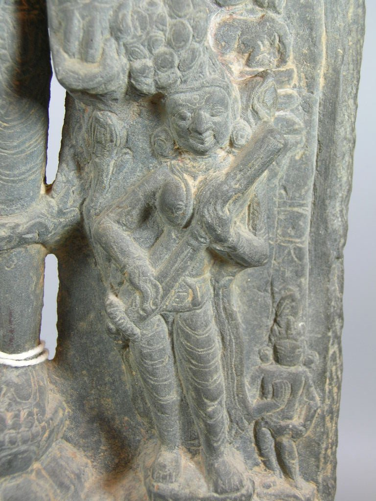 11th Century Indian Grey Limestone Buddhist Stele - 6