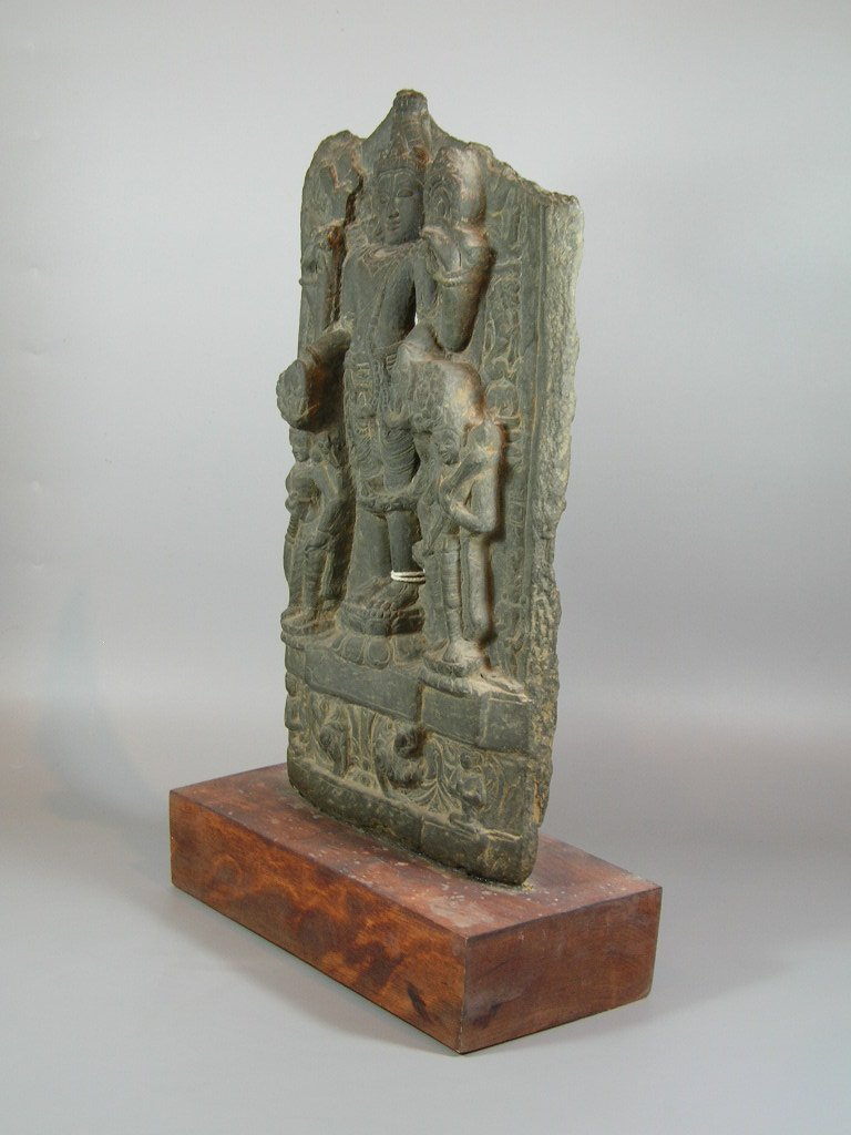 11th Century Indian Grey Limestone Buddhist Stele - 7