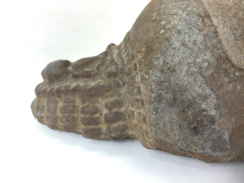 Unusual Khmer Sandstone Sculpture Buddha's Head - 8