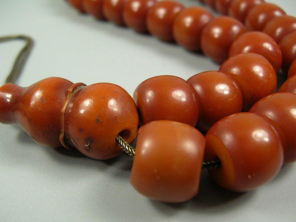 Antique authentic 34 Amber Bakelite Faturan Preyer - 5