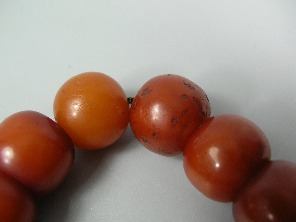 Antique authentic 34 Amber Bakelite Faturan Preyer - 7