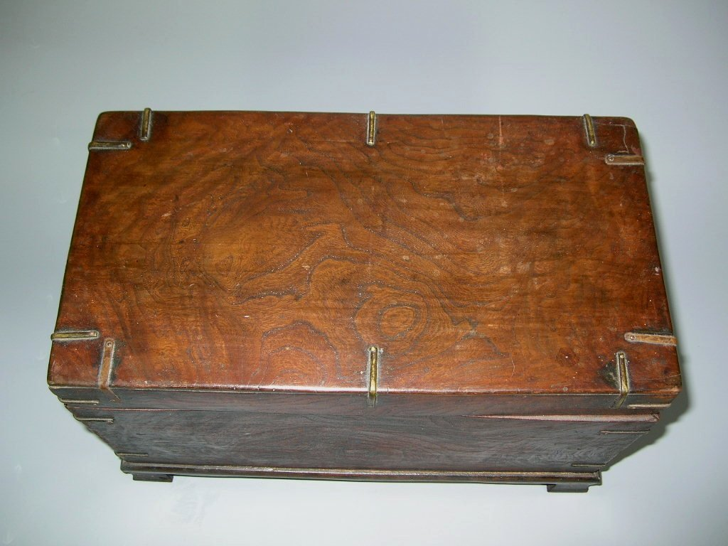 Two Antique Korean Wooden Boxes - 5