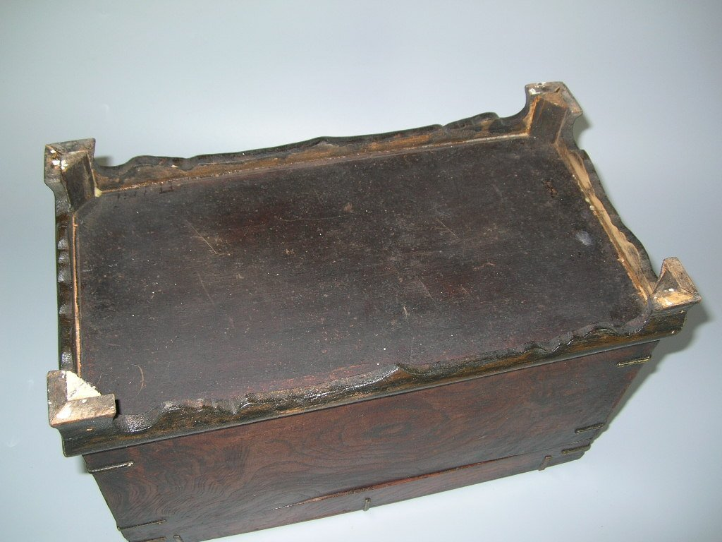 Two Antique Korean Wooden Boxes - 9
